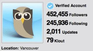 HootSuite Klout Score