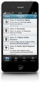 HootSuite iPhone iOS4