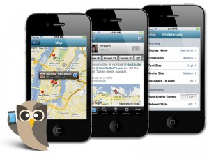 HootSuite iPhone - now with more geo-goodtimes