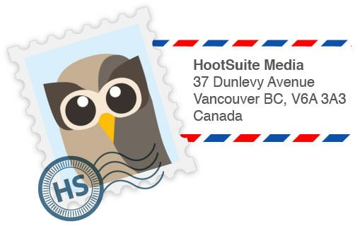 Owly Postcard contest from HootSuite