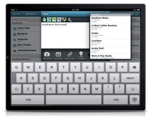 Set Location on HootSuite iPad