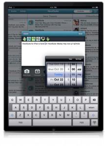 HootSuite iPad Schedule
