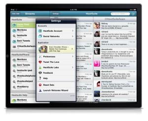 HootSuite iPad Settings