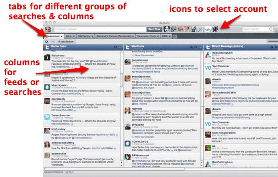 Screenshot of HootSuite Dashboard