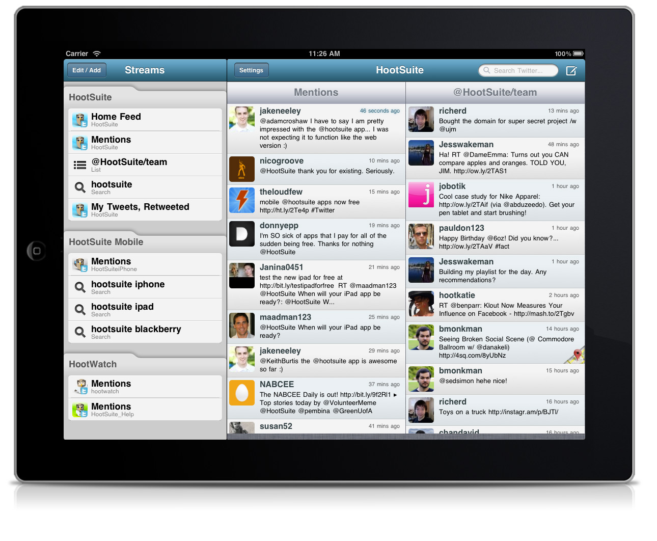 Social Media Tools for iPad