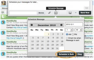 HootSuite's bulk upload and scheduling