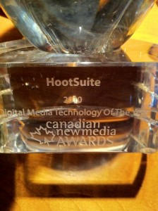 Best Digital Media Technology of the Year Award for HootSuite