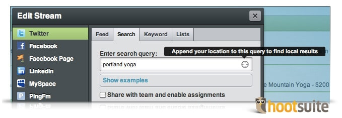 Geo-location search to find customers
