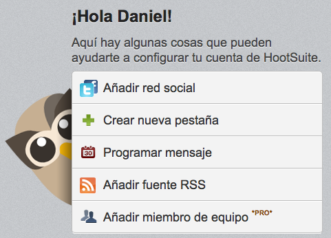 HootSuite en español: opciones