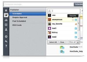 HootSuite Social Network Profile Picker