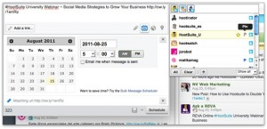 Upload photos, schedule and more in HootSuite