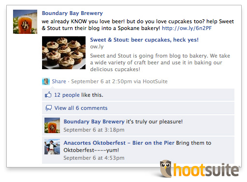 Facebook Management via HootSuite