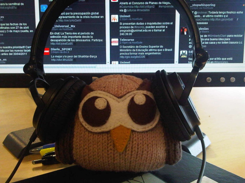 Owly uses HootSuite to monitor