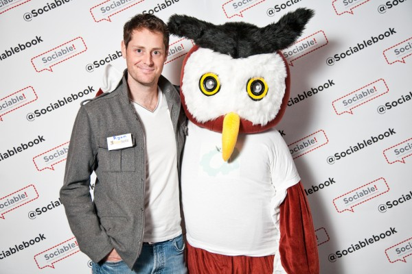 HootSuite CEO and HootSuite mascot