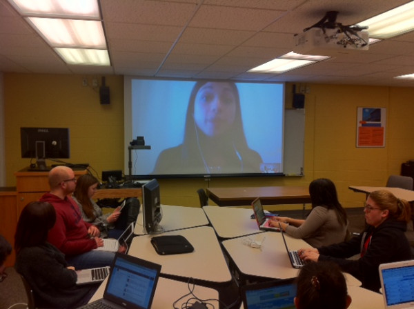 Director of HootSuite University on a video call