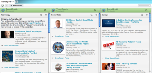 TrendSpottr in HootSuite screenshot