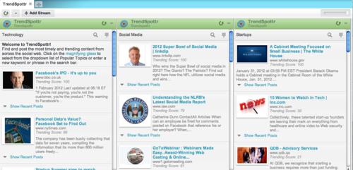 TrendSpottr in HootSuite screenshot