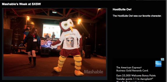 The HootSuite Owl was Mashable's favorite character