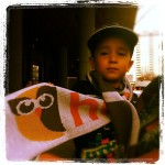 A little HootFan sports a HootSuite scarf