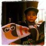A little HootFan sports a HootSuite scarf