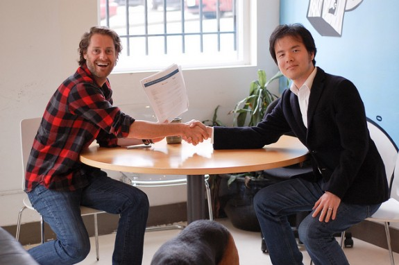 Ryan Holmes with Termtter Chief Engineer Ujihisa Tatsuhiro
