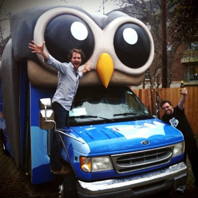 Ryan and Dave with the HootBus