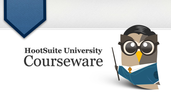 hootsuite university courseware header