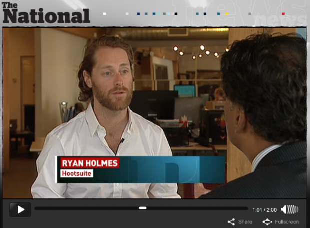 Ryan Holmes on CBC's The National – Click for full video