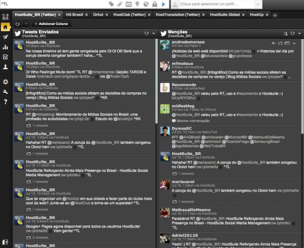 HootSuite streams