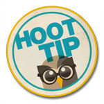 hoottip button badge 150px