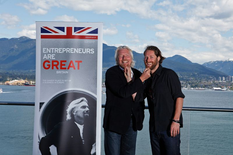 Ryan and Richard Branson