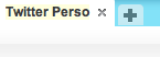 """Puis renommez votre onglet - """"Twitter Perso"""" par exemple"""