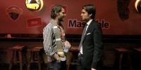 Ryan Holmes (CEO HootSuite) and Pete Cashmore (CEO Mashable) chat at the MashBash in @GenSoc