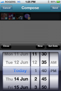 Schedule with your Mobile App