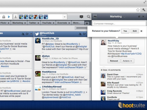 HootSuite external engagement