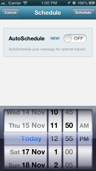 iPhone AutoSchedule