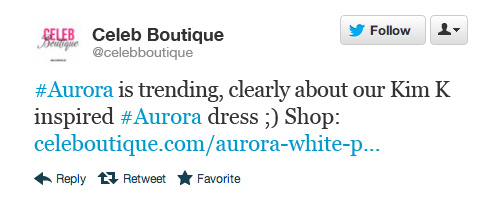 Tweet - Celeb Boutique