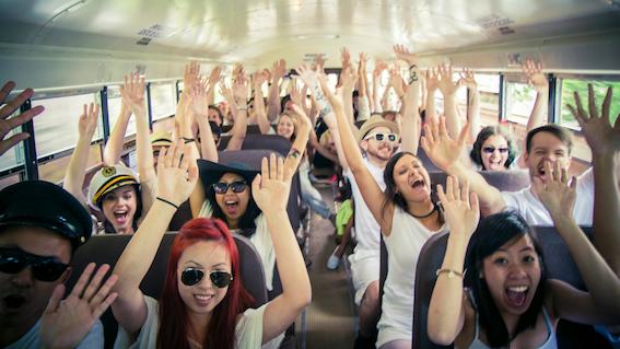 hootsuite bus ride