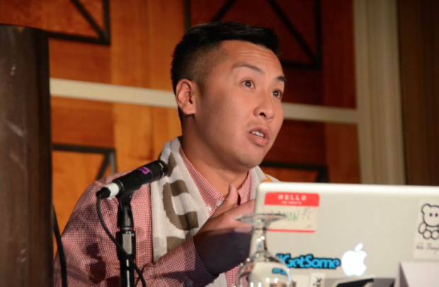 Jaxon Lam, HootSuite's Affiliate and Search Specialist on a panel at Affiliate Summit in Las Vegas