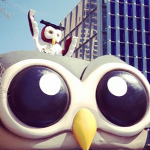 Owly and the HootBus rolling into Austin