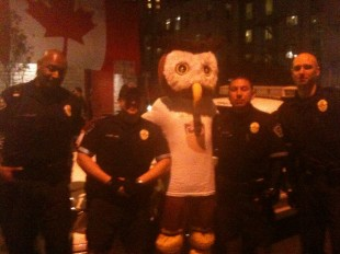 Austin Police pose with Owly