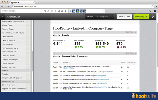 LinkedIn Pages Update Screenshot