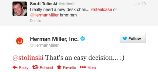 Herman Miller Tweet - cropped