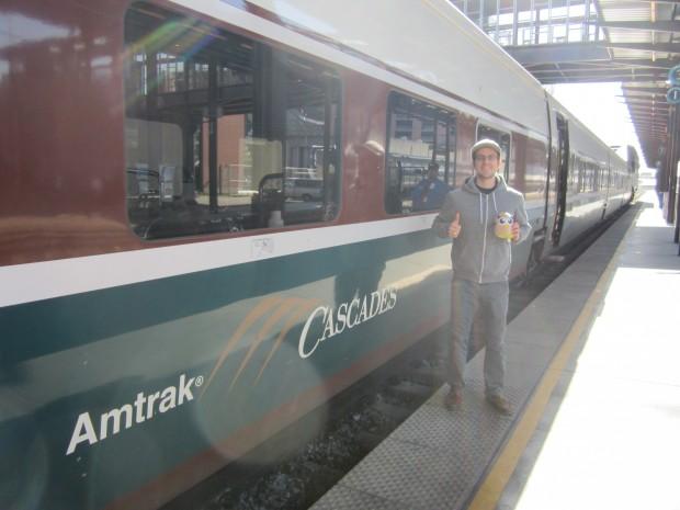 HootTrak stop in Seattle on Amtrak