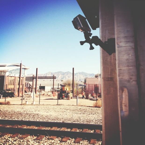 #HootTrak: GoPro mounted on #Amtrak train