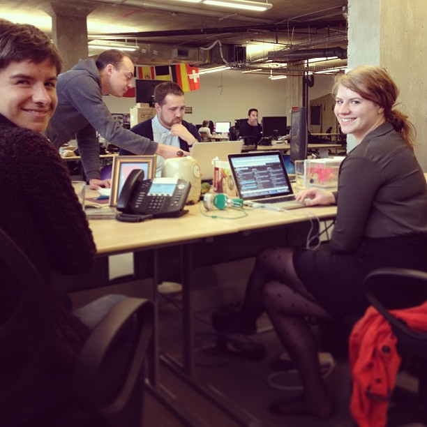 Some of the smiling faces behind @HootSuite_Help, including Sarah Chambers at right