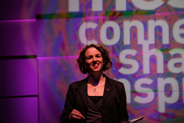Alexandra Samuel speaking at The MeshMarketing Conference 12. Photo Credit to LexnGer via Flickr