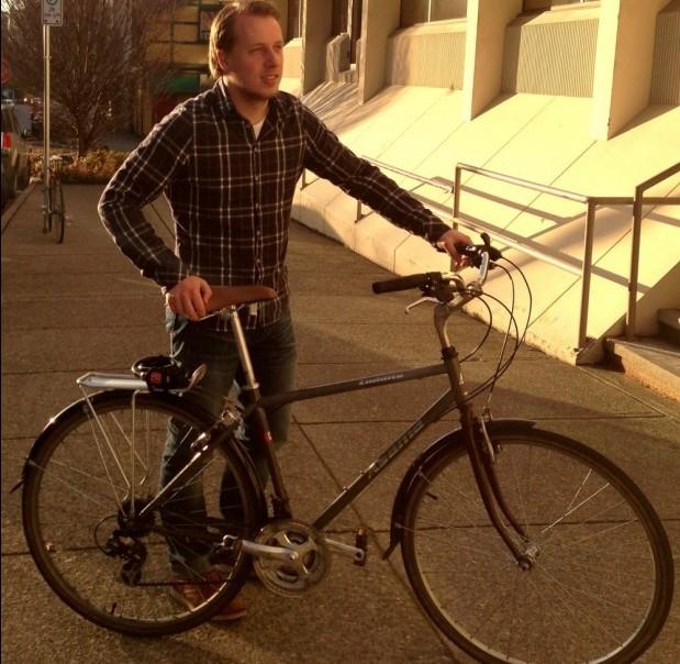 Rolf loves biking to HootSuite