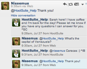 @HootSuite_Help is asked all sorts of off-brand questions, and still makes a point of answering them.