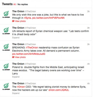 The Syrian Electronic Army hacked the Onion's Twitter account using three simple phishing techniques.